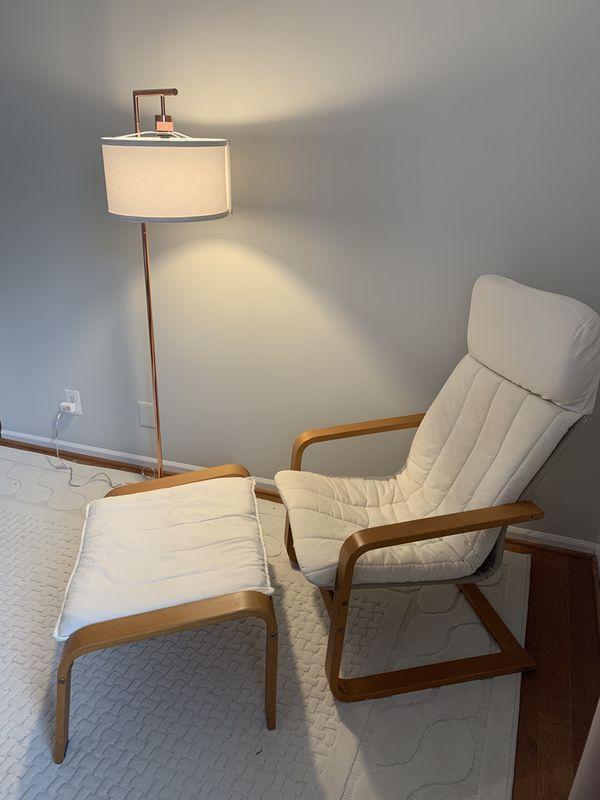 IKEA Pello armchair and Poang footstool