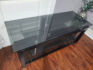 Glass TV Stand Satin Glass for Sale in Stamford, CT