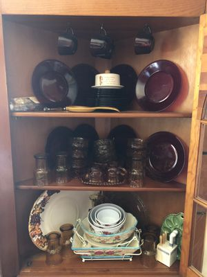 Red dishes and serving bowls/platters for Sale in Ellwood City, PA