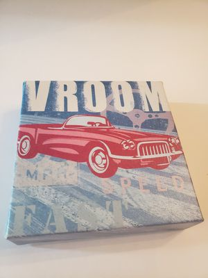 Vroom fancy car painting art style 6 x 6 for Sale in Plainville, CT