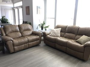 Leather recliner set, couch and love sofa. Four recliners total for Sale in Englewood, CO