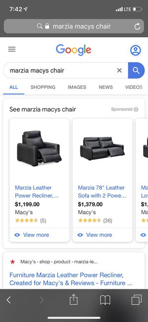 Marzia Macy's Black Leather Recliners — $150 for Sale in Charlotte, NC