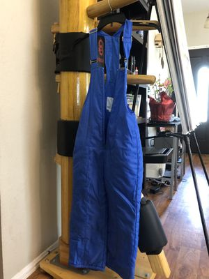 Girls size 7 snow bib overalls for Sale in Rancho Cucamonga, CA