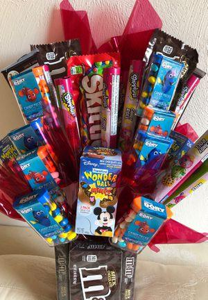 Finding dory , Nemo , Shopkins, Disney Wonder ball candy bouquet for Sale in Virginia Beach, VA