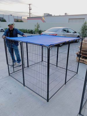 New 48 inch tall x 32 inches wide each panel x 8 panels heavy duty exercise playpen with sun shade tarp cover fence safety gate dog cage crate kennel for Sale in Norwalk, CA