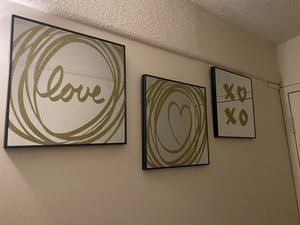 Mirror Wall Art 'Gold Love' for Sale in Saint Charles, MO