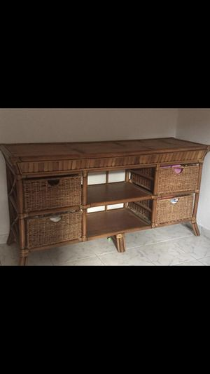100% Imported Bamboo Buffet & coffee table set for Sale in Abilene, TX