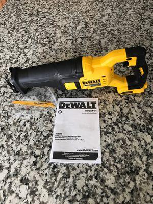 Dewalt variable reciprocating saw flex volt. for Sale in Visalia, CA