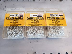 6 boxes of panel board nails for Sale in Chandler, AZ