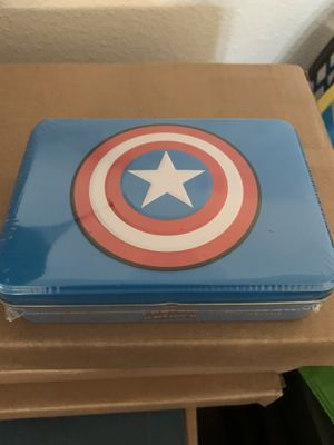 Captain America 2 Pack of Playing Cards w Tin Case for Sale in Anaheim, CA