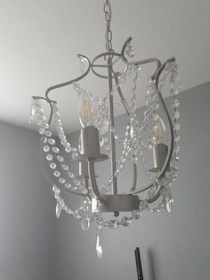 Grey/silver chandelier, 3 lights for Sale in Brighton, CO
