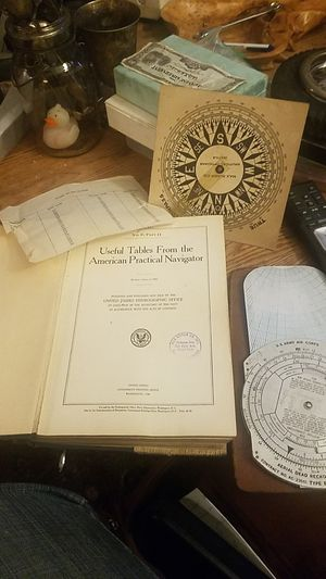 Antique book us tables from the American practical Navigator United States hydrographic office official Army Navy in the beginning how they got around for Sale in Federal Way, WA