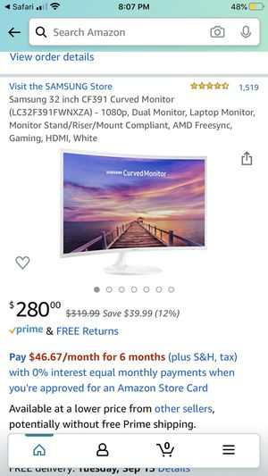 "Samsung 32"" Curved Monitor for Sale in Dallas, TX"