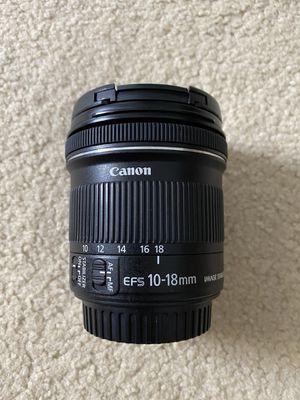 10-18mm canon for Sale in Honolulu, HI