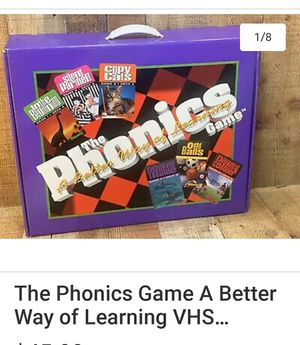 The Phonics Game A Better Way of Learning VHS Cassette Set for Sale in Rancho Cucamonga, CA
