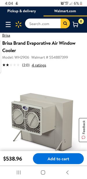 Brisa Window Cooler for Sale in Tracy, CA