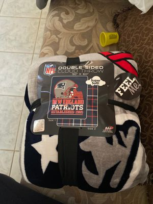 New England patriots double sided cloud throw for Sale in Corona, CA