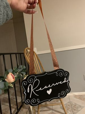 Chalk board reserved sign for Sale in Phoenix, AZ