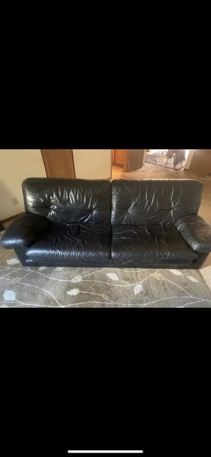 Black leather couch for Sale in San Diego, CA