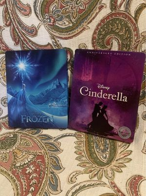 Frozen and Cinderella steelbooks for Sale in Red Oak, TX