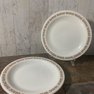 """Vintage Pyrex """"Brown Copper Filigree"""" Corning Tableware Small Side Plates, Set of 4 for Sale in Lancaster, OH"""