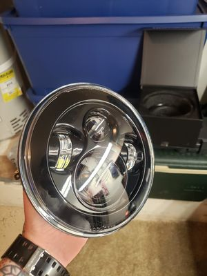 """HogWorkz LED 7"""" Headlight for Harley or Indian motorcycle for Sale in Monroe, WA"""