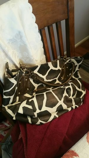 Brown and white ladies bag for Sale in Laurel, MD