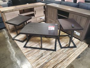 3 PC Coffee Table Set, Black for Sale in Huntington Beach, CA