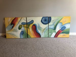 Canvas wall art ( 3 pcs set) for Sale in Foxborough, MA