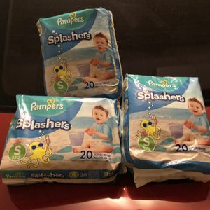 3 pks Small Pampers swimmers Total 60 diapers for Sale in Mableton, GA