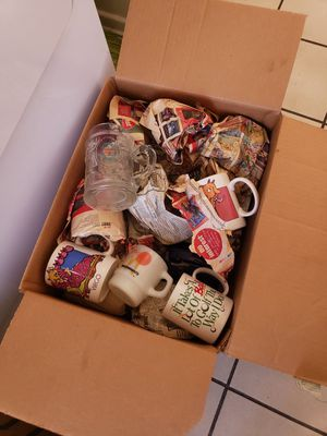 Box of collectable coffee cups- found in garage for Sale in Lakewood, CA