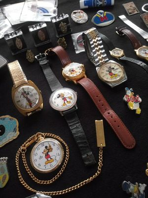 Mickey Mouse Watches and Pins Collection for Sale in Chandler, AZ