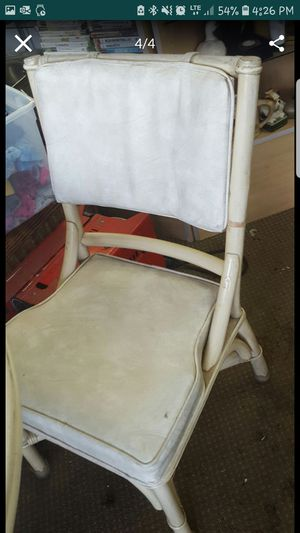 Bamboo table and 4 chairs for Sale in Port Richey, FL