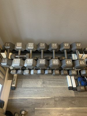 Dumbbells, pesas, weights, gym equipment for Sale in Dallas, TX