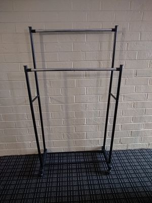 Double rod portable clothing hanging rack for Sale in Alexandria, VA