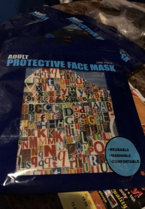 New letters face mask for Sale in Parkville, MD