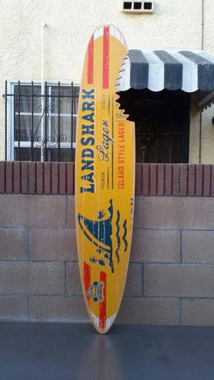 LANDSHARK LAGER SURFBOARD. ( ALSO PLENTY OF NEON SIGNS / LIGHTS AVAILABLE FOR SALE ). DODGERS BOBBLEHEADS AVAILABLE. for Sale in Los Angeles, CA