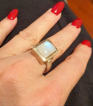 Silver GENUINE (not fake)moonstone ring for Sale in Henderson, NV