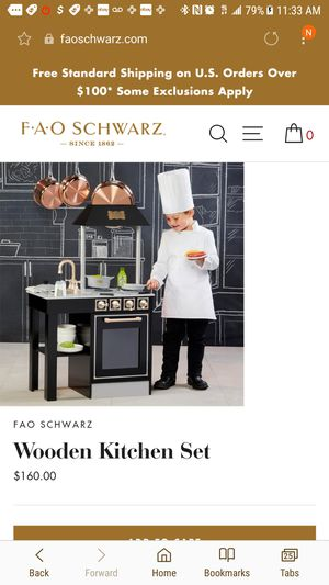 FAO Schwarz FAO SchwarzGourmet Wood Play Kitchen for Sale in Silver Spring, MD