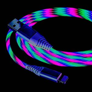 Multi Color Non Magnetic Led Cable 6.6ft Long. When Conected Lights Up 3 Colors Blue/green/red Flowing. for Sale in Los Angeles, CA