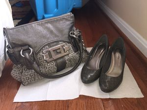 Bag and heels set guess bag size 6.5 for Sale in Alexandria, VA