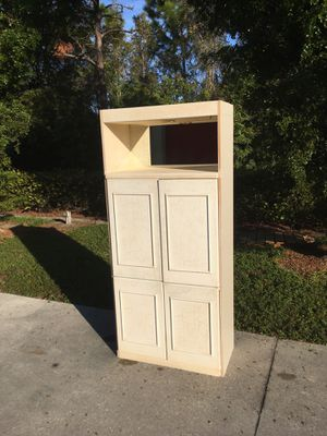 Lighted Wooden Cabinet for Sale in Bonita Springs, FL