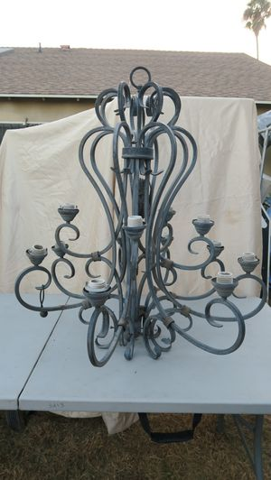 Large Wrought Iron Light Lamp Hanging Chandelier for Sale in Artesia, CA