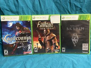 Lot of 3 Xbox 360 Games! Castlevania, Fallout Skyrim! for Sale in Roseville, CA