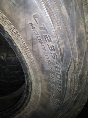 "17 "" Cooper tires more than half tread for Sale in REPUBLICN GRV, VA"