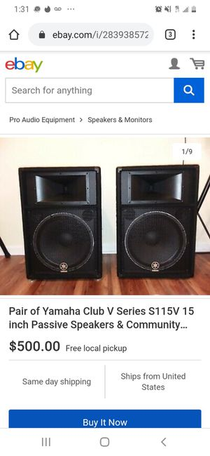 Yamaha 15's passive PA speakers for Sale in Fontana, CA