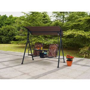"Big and Tall 2-Person Bungee Canopy Porch Swing CAMO (21-3/4""W (total width 74-3/4"") x 20-7/8""D x 69 for Sale in Dallas, TX"