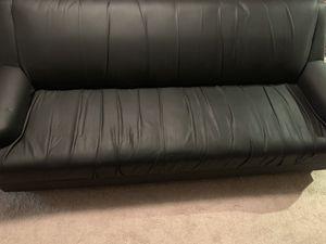 Black leather sofa. for Sale in Burke, VA