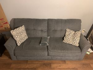 Grey sofa with two pillows for Sale in Tucson, AZ