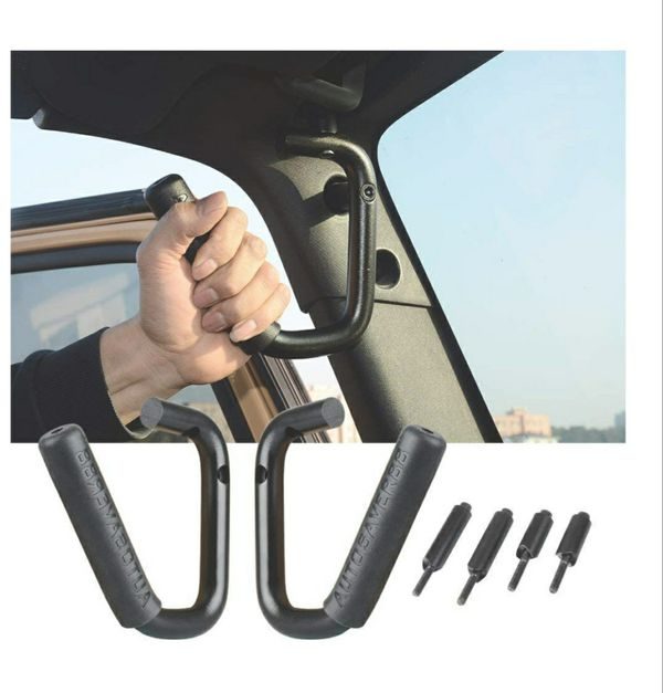 AUTOSAVER Bar Handle, Handle for 2007-2017 Jeep JK Wrangler and Unlimited Door 2/4 - One Pair